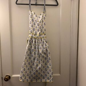 Anthropologie anchor and flower halter apron